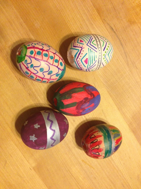 Our version of painted eggs like we'll see in Prague